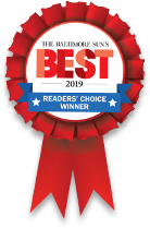 The Baltimore Suns Best of 2019 Reader's Choice Winner ribbon awarded to Len The Plumber.