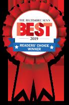 The Baltimore Suns Best of 2019 Reader's Choice Winner ribbon awarded to Len The Plumber.