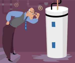hot water heaters can leak, its up to you to have them fixed before its too late