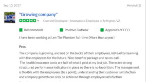 Len The Plumber Glassdoor Reviews