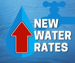 water rates increasing
