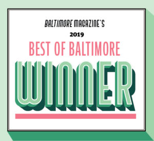 Graphic from Baltimore Magazine announcing Len the Plumber as the 2019 Best of Baltimore winner.