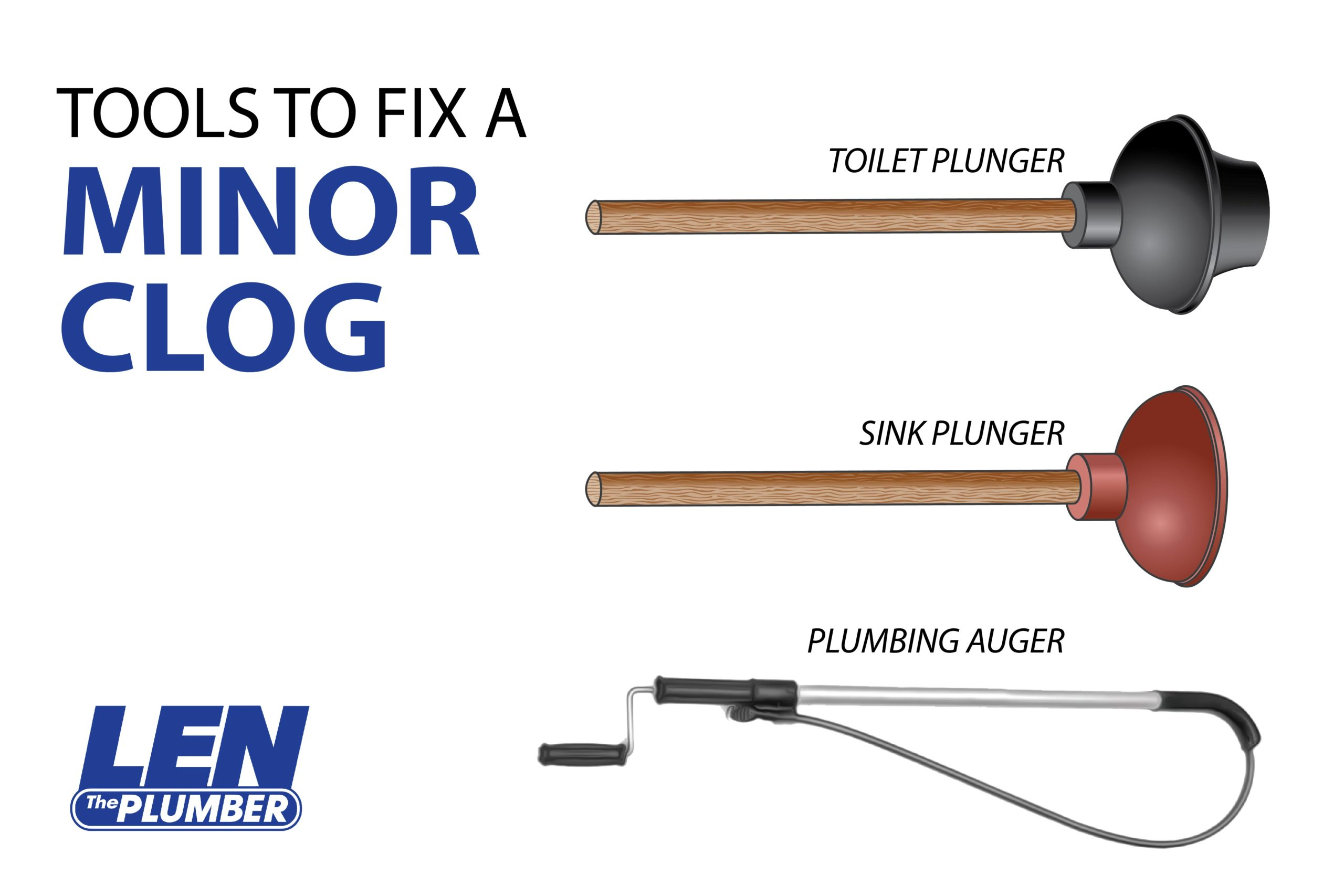plumbing tools for clogged drains